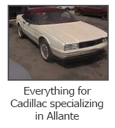 Everything for Cadillac specializing in Allante